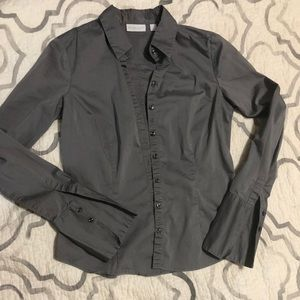 NY & co long-sleeved, collared, button-up shirt.